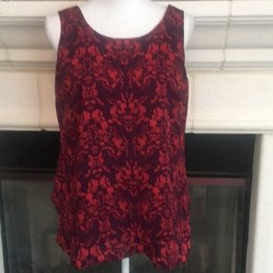 Cabi exotic floral top w/tulip back, lined💕